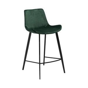 Tmavozelená barová stolička DAN–FORM Denmark Hype Velvet