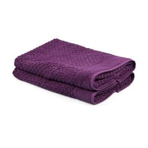 Sada 2 fialových uterákov Beverly Hills Polo Club Mosley, 50×80cm