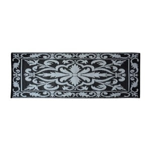 Sivo-čierny balkonový koberec Esschert Design