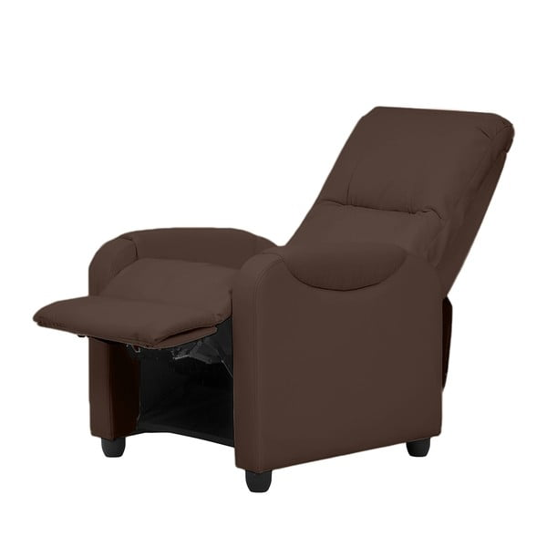 Relaxačné kreslo Arton, tmavo hnedá koženka