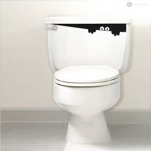 Samolepka Toilet Monster