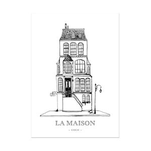 Plagát Leo La Douce La Maison Coco, 29,7x42cm