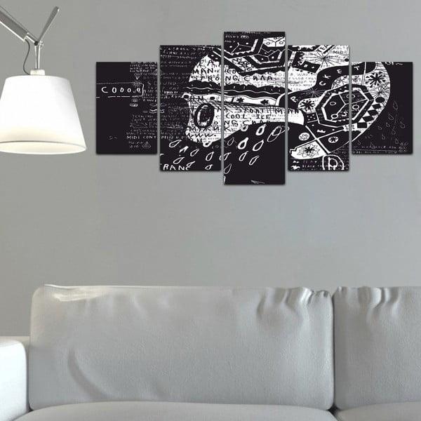 Viacdielny obraz Black&White no. 99, 100x50 cm