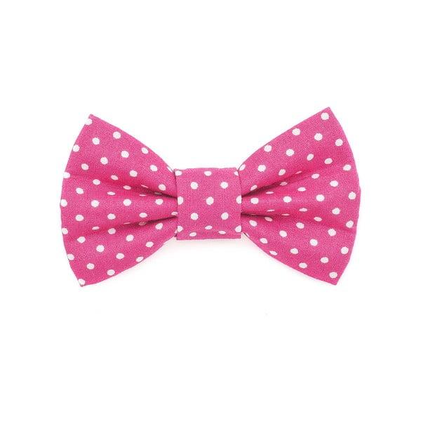 Růžový charitatívny psí motýlik s bodkami Funky Dog Bow Ties, veľ. L
