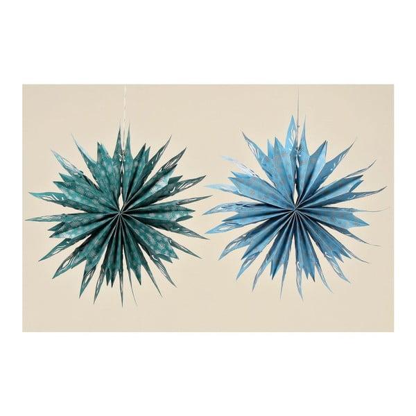 Sada 2 dekoratívnych papierových hviezd Holly, 56 cm