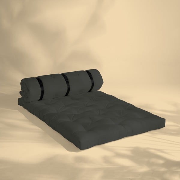 Tmavosivá rozkladacia pohovka vhodná do exteriéru Karup Design Design OUT™ Buckle Up Grey