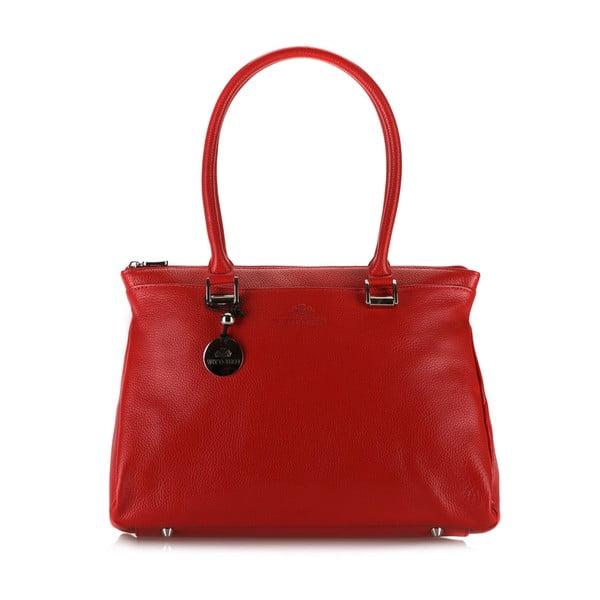 Kožená kabelka Comfort Red