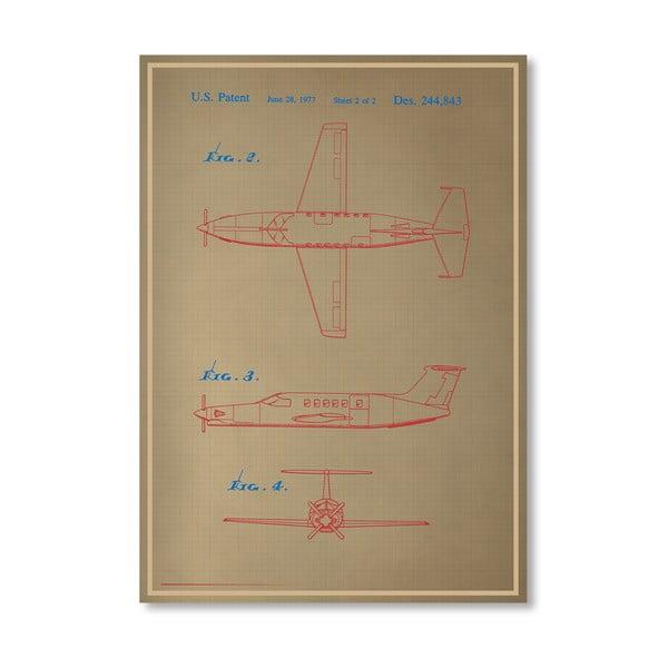 Plagát Airplane III, 30x42 cm