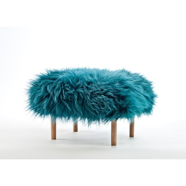 Stolička z ovčej kože Bethan Teal