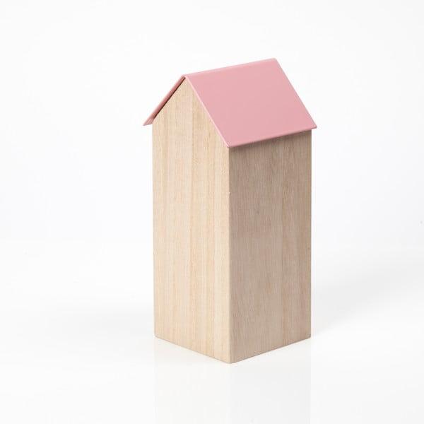 Ružový úložný box House Large