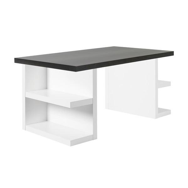 Tmavohnedý pracovný stôl TemaHome Multi, 160cm