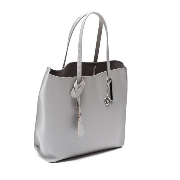 Kožená kabelka Izabella 3020 Grigio