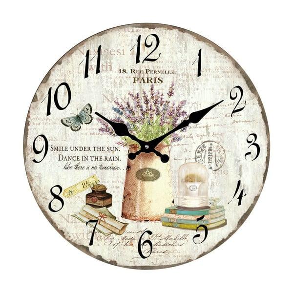 Sklenené hodiny Paríž, 34 cm