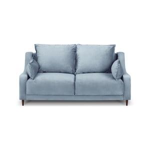 Světle modrá dvoumístná pohovka Mazzini Sofas Freesia