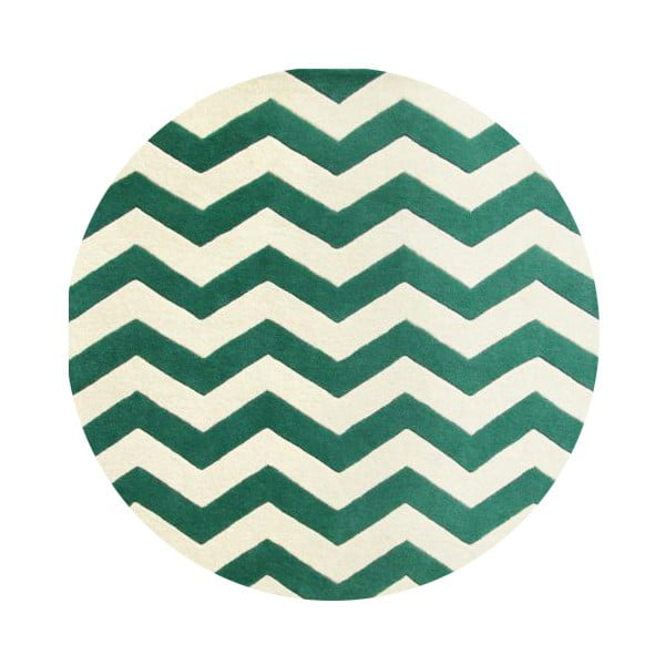 Vlnený koberec Safavieh Crosby, 152 cm, zelený
