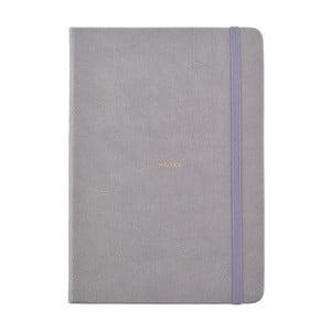 Šedý zápisník o formáte A5 Busy B, 96 strán