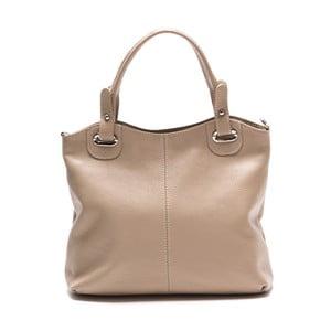 Sivo-hnedá kožená kabelka Louisa Vannino Nena
