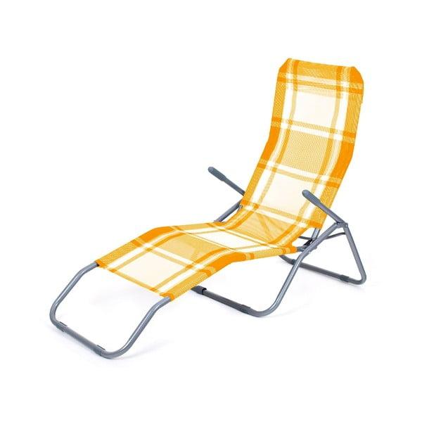Plážové ležadlo Summer, oranžová kocka