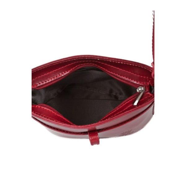 Červená kožená kabelka Markes Calf Mini