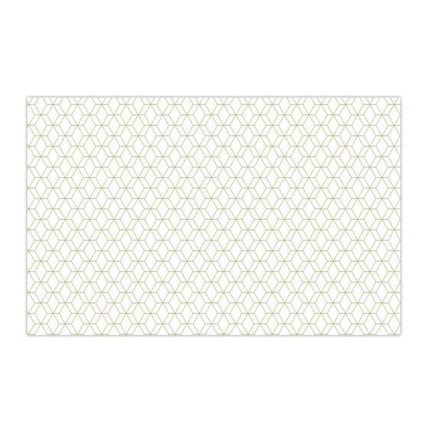 Obrus Hexagon White, 140x220 cm