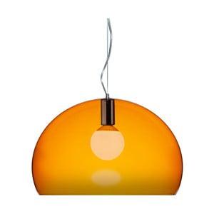 Oranžové stropné svietidlo Kartell Fly, ⌀52cm