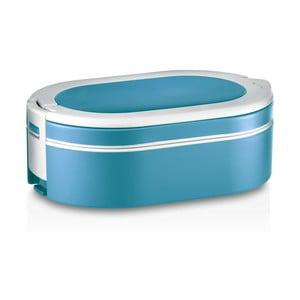 Modrý oválný termo box na obed Enjoy, 1,4 l