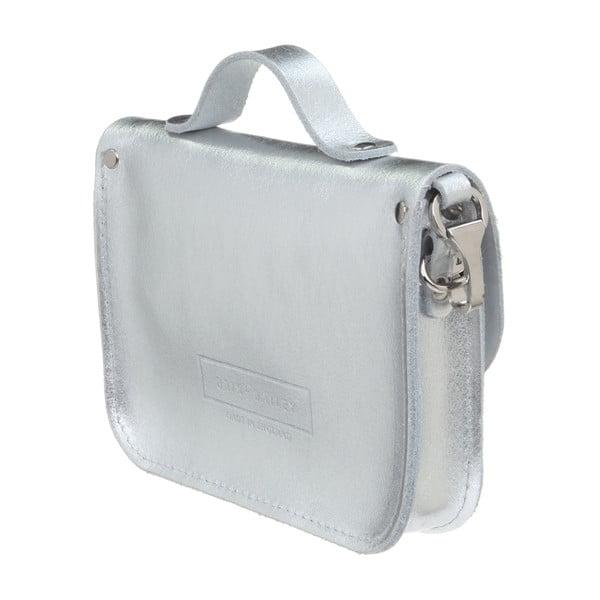 Kožená menšia kabelka Alton Silver