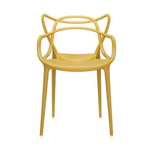 Horčicovožltá jedálenská stolička Kartell Masters