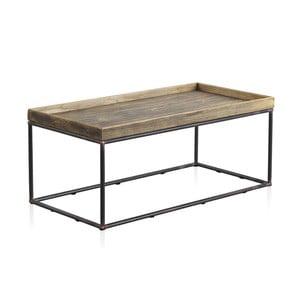 Konferenčný stolík s kovovou konštrukciou a drevenou doskou Geese, 120 x 60 cm