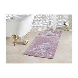 Sada 2 kúpeľňových predložiek Confetti Bathmats Cuckoo Dark and Light Lilac