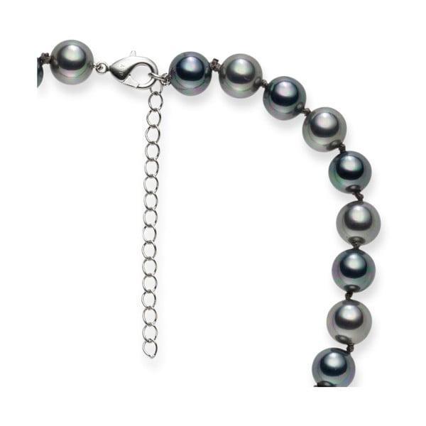 Perlový náhrdelník Pearls Of London Mystic Silver, 42 cm
