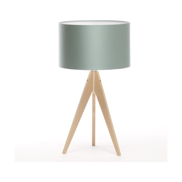 Stolná lampa Artist Light Green Blue/Natural Birch, 65 cm