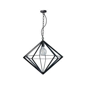 Čierne kovové závesné svietidlo ETH Spider