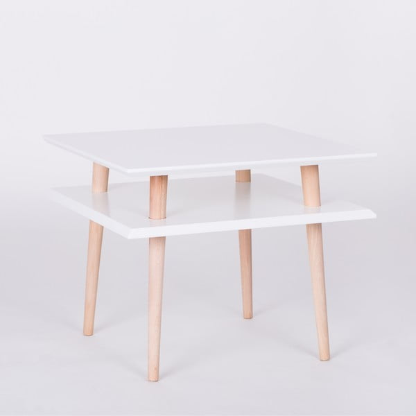Biely konferenčný stolík Ragaba Square, 55x55cm