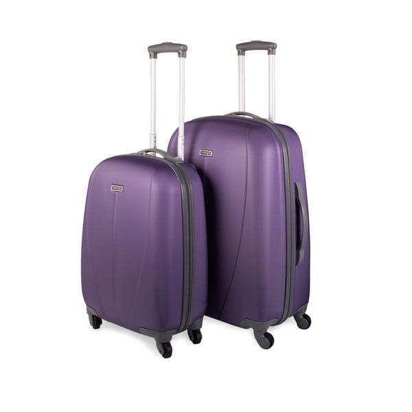 Sada 2 kufrov Tempo, fialová