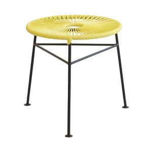 Žltý odkladací stolík OK Design Centro