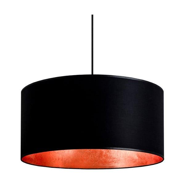 Závesné svietidlo Tres, čierna/medená, priemer 50cm