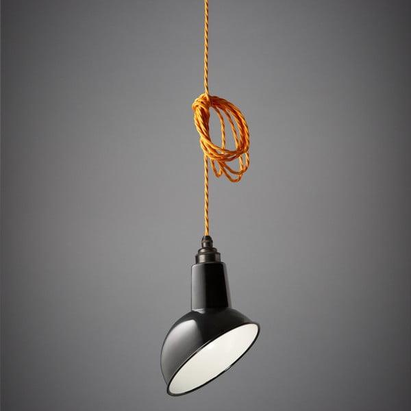 Závesné svetlo Miniature Angled Cloche Black/Orange