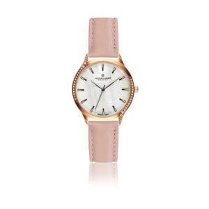 Dámske hodinky s ružovým remienkom z pravej kože Frederic Graff Parsio