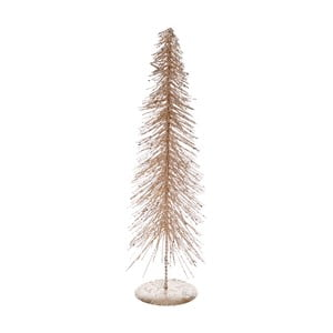Dekoratívny kovový stromček v béžovozlatom odtieni Ewax Arbol, výška 40 cm