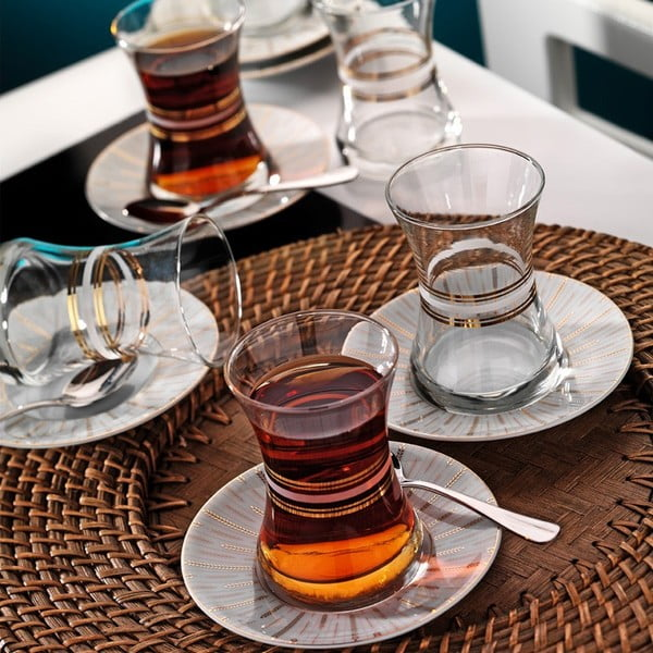 Sada pohárov na čaj Klasika, 6 ks