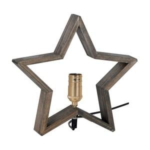 Hnedo-sivá drevená svietiaca hviezda Best Season Lysekil, 30 x 29 cm