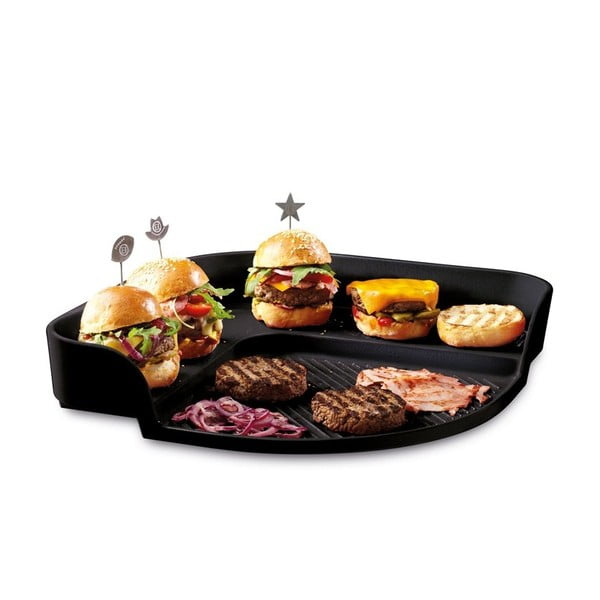 Tácka na burgery Emile Henry, čierna