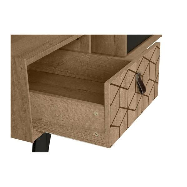 Konferenčný stolík v dekore dubového dreva s 2 zásuvkami Marckeric Ceilan