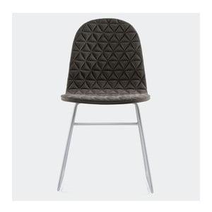Stolička Mannequin Triangel, tmavo sivá