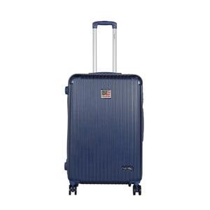 Tmavomodrý cestovný kufor LULU CASTAGNETTE Darwin, 107 l