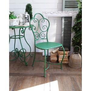 Kovová stolička Shabby Green