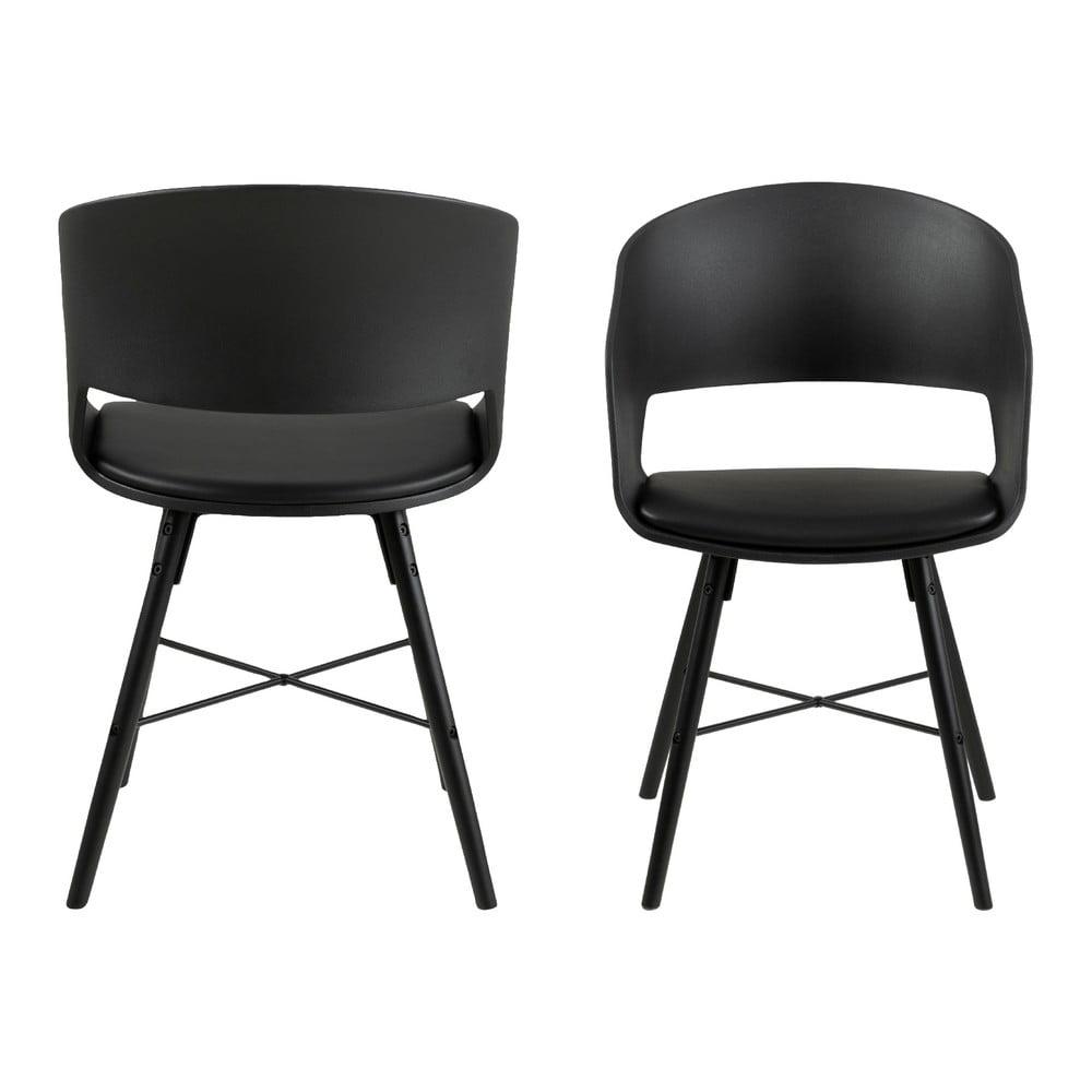 Čierna jedálenská stolička Interstil Luna