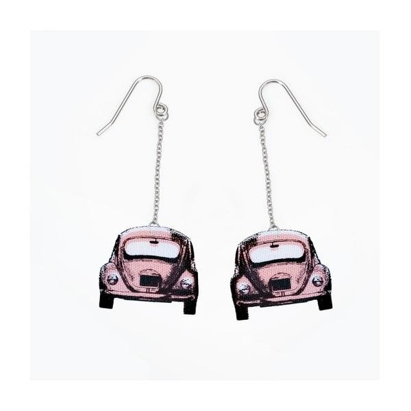 Náušnice s ružovým autíčkom od Lucie Markovej