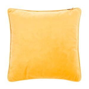 Žltý vankúš Tiseco Home Studio Velvety, 45 x 45 cm